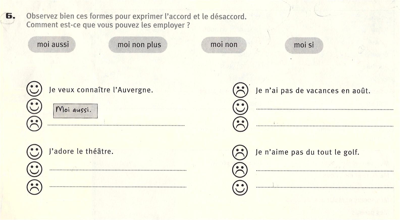 D'accord/Pas d'accord : transformer un exercice de Fle   Territoires des langues